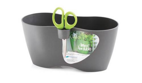 Горшок для растений Limes DUBLO - серый, 2,3 л, фото 2