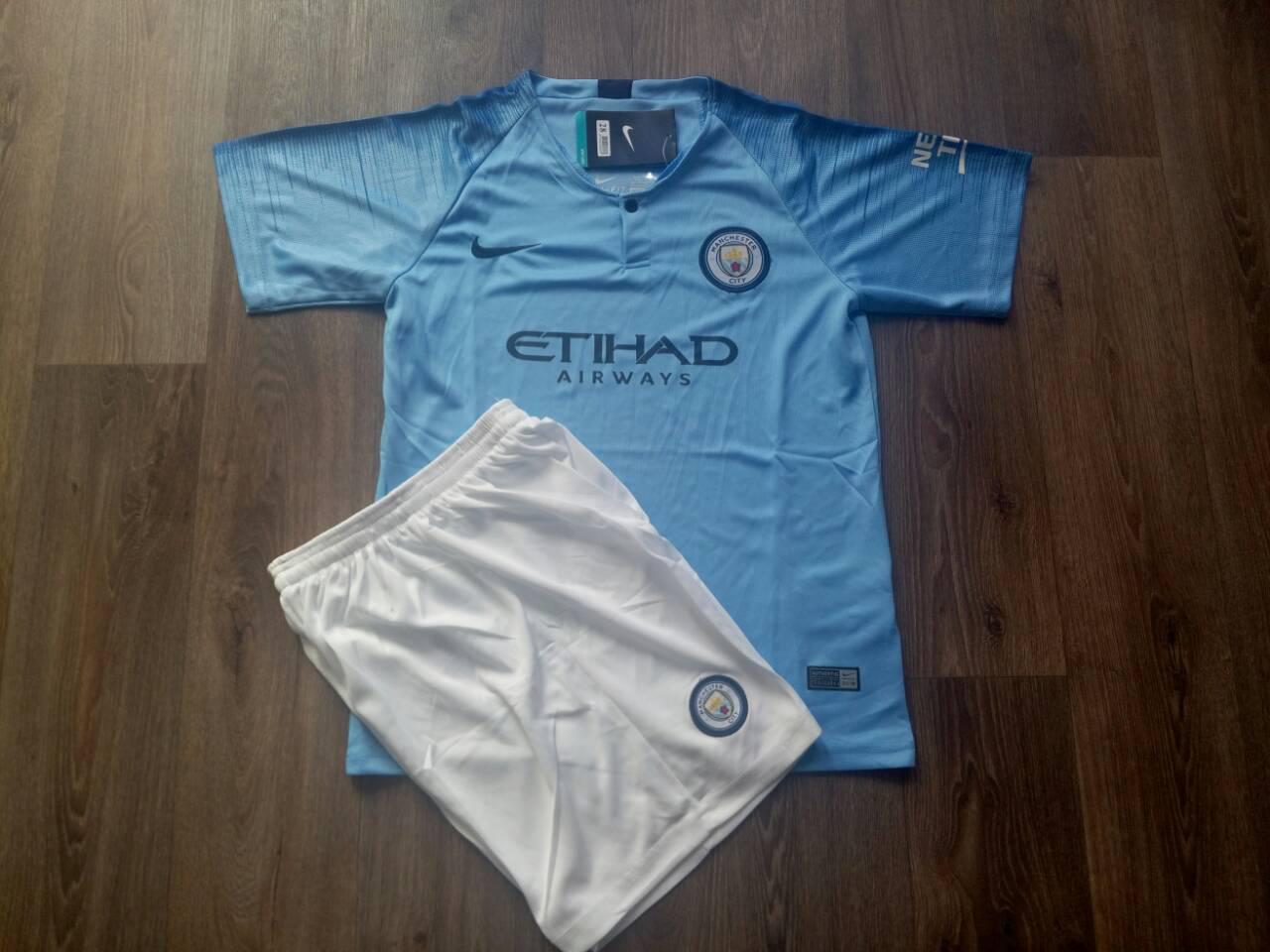 Футбольная форма Манчестер Сити  2018-2019 основная голубая размер XL