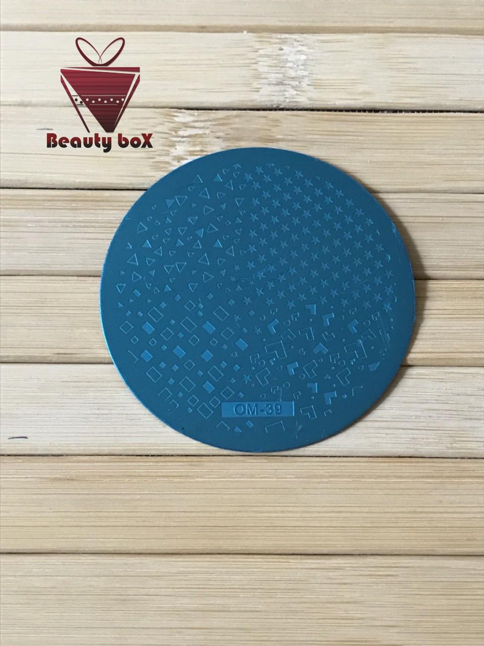 Пластина для стемпинга (круглая) OM 39