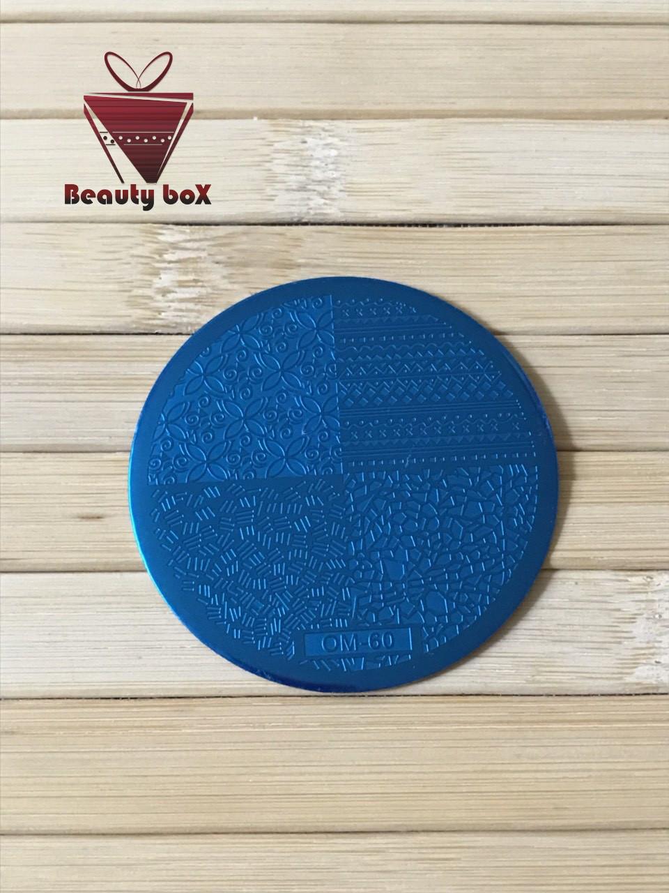 Пластина для стемпинга (круглая) OM 60