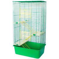 Клетка для грызунов Шиншила 50 высокая 3 лесенки, 3 полки 500*350*830