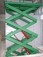 Грузовая  платформа с большой высотой подъема