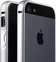 Чехол бампер iPhone 5/5s алюминевый металлический на защелке графит темно - серый Metal Aluminum Frame Bumper