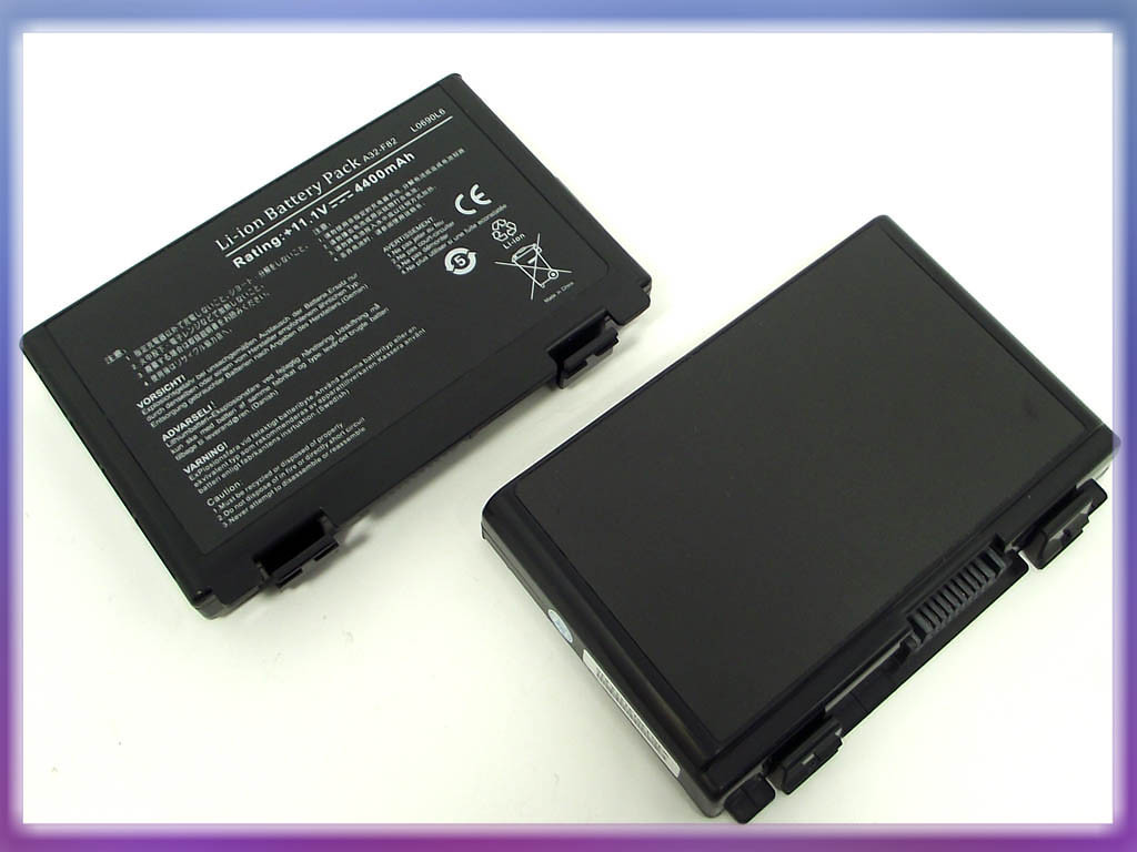 Батарея ASUS A32-F82: ASUS K40 11.1V 4400mAh Black.