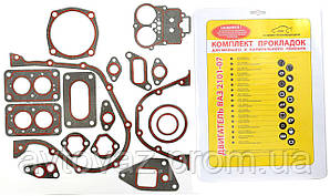 Прокладка двигуна ВАЗ 2101, ВАЗ 2102, ВАЗ-2103, ВАЗ 2106, ВАЗ БЦМ 2107 м'який набір БЦМ