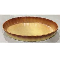 "Форма для выпечки пирога керамика овал ""Ethno Organic"" 33.5*24*5см, 236767"