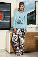 Женская пижама Shirly 5825, костюм домашний с повязкой на глаза для сна, фото 1