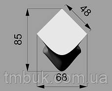Ножка кабриоль с листом деревянная резная. Опора гнутая для стола, стула, консоли.500 мм., фото 3