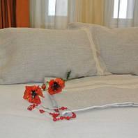 Льняное постельное белье размер в ассортименте 130*80 215*240 150*210, фото 1