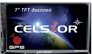 """Двухдиновый мультимедийный центр с 7"""" TFT сенсорным дисплеем  Celsior CST-7007G"""