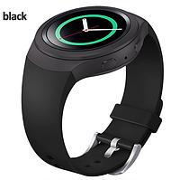 Ремешок для Samsung Gear S2 Sports SM-R720 / SM-R730 силиконовый черный Black, фото 1