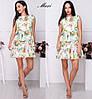 Женское яркое свободное платье с принтом (расцветки)