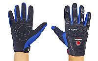 Мотоперчатки текстильные с закрытыми пальцами и протектором SCOYCO MС09-BKB