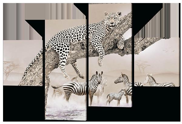 Модульная картина Хищник в Сафари