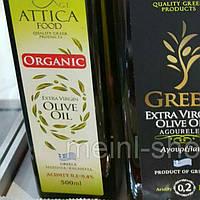 Оливковое масло Organic Extra Virgin Attica Food , 0.5 л