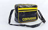 Сумка молодежная лакированная через плечо Converse (37смх27смх14см) реплика