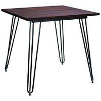 Обеденный стол Smith 80х80 Черный (AMF-ТМ)