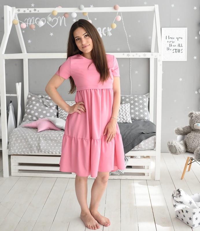 e5312001cd9caa3 Джинсовое легкое платье Ассоль для беременных и кормящих мам HIGH HEELS MOM  (розовый, размер