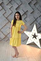 Джинсовое летнее платье Ассоль для беременных и кормящих мам HIGH HEELS MOM (желтый, размер L), фото 1
