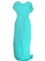 Платье зеленая (штапель) №466