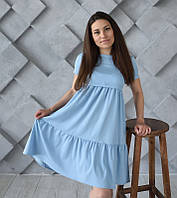 Платье Ассоль для беременных и кормящих мам HIGH HEELS MOM (голубой, размер S)