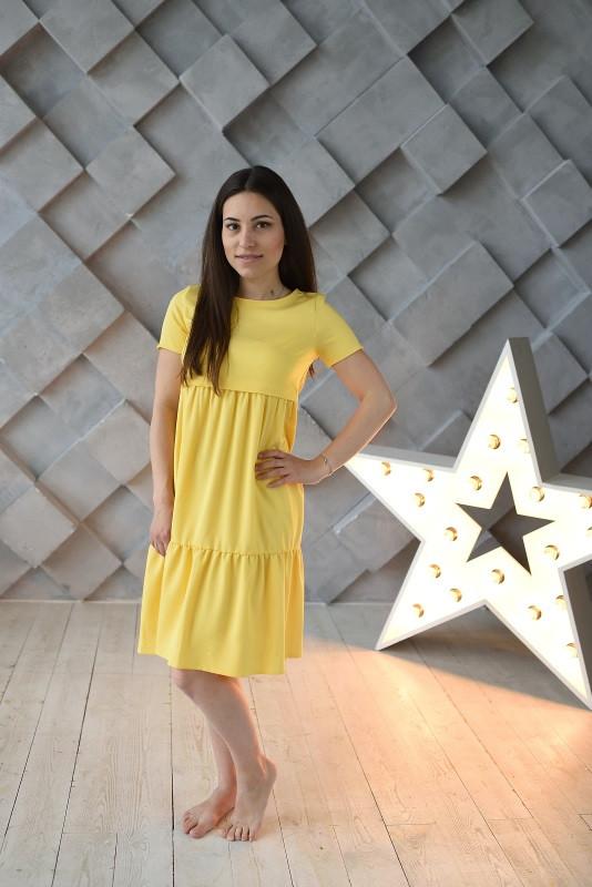 Платье Ассоль для беременных и кормящих мам HIGH HEELS MOM (жёлтый, размер S)