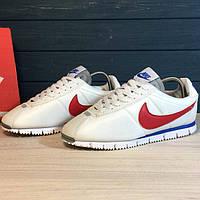 Мужские кроссовки Nike Cortez White Red (реплика)