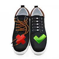 Белые силиконовые шнурки для обуви 12 шт