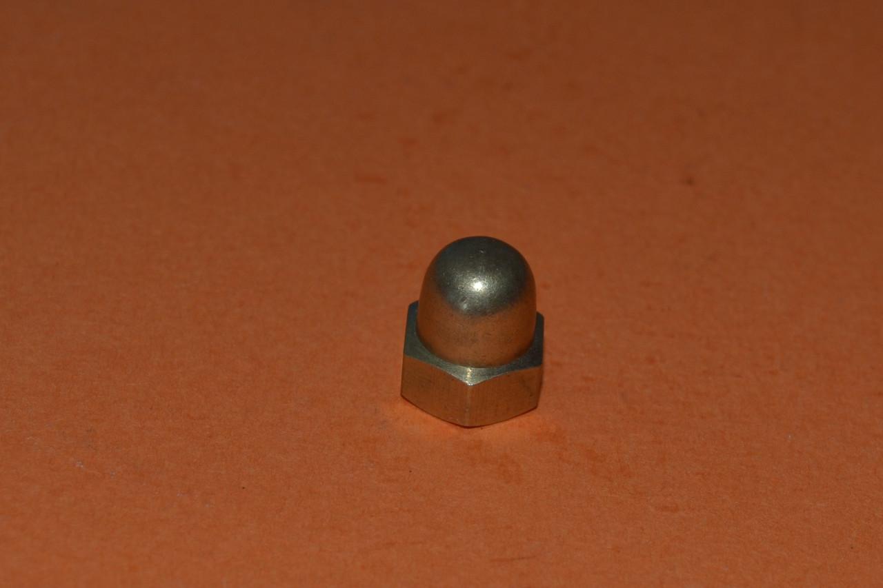Гайка колпачковая М12 DIN  1587, ГОСТ 11860-85 латунная