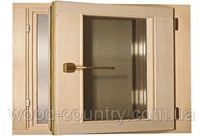 """Окно для сауны и бани """"поворотное """" 600 х 500 мм."""