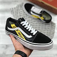 Мужские кеды Vans old Skool x OFF-WHITE Black, Копия  продажа, цена ... 13663ae143a