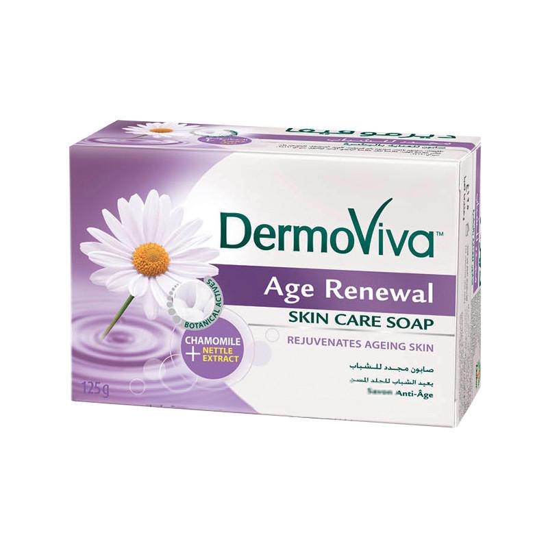 Мыло омолаживающее с экстрактом ромашки Dabur DermoViva Age Renewal Skin Soap