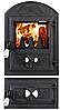 Пічна дверцята зі склом Дубок роздільний, чавунні дверцята для печі та барбекю