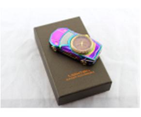 Зажигалка USB 813 + clock, фото 2