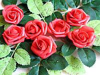 Розы из латекса красные 4 см от 3-х грн за 1 шт