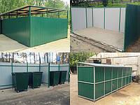 Контейнерні майданчики для сміттєвих контейнерів / Контейнерные площадки для мусорных контейнеров
