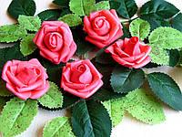 Розы из латекса алые 4 см от 3-х грн за 1 шт