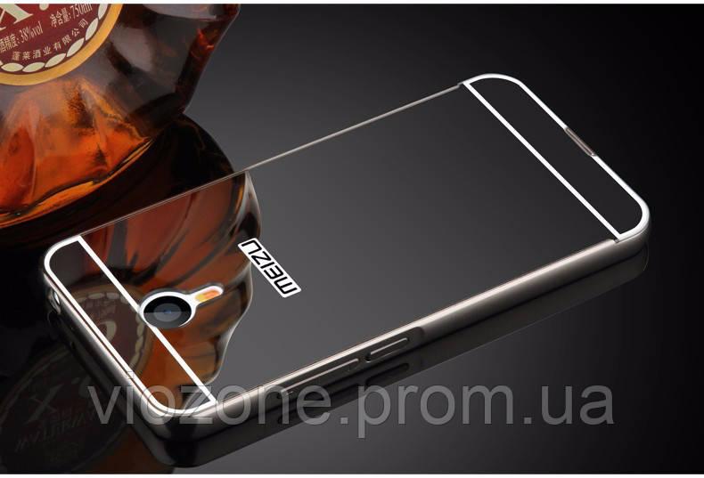 Зеркальный Чехол/Бампер для Meizu M5 Note Чёрный (Металлический)