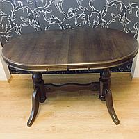 Стол обеденный раздвижной дубовый 120(150)х80 см, фото 1