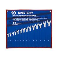 Набор комбинированных удлиненных ключей 8-24 мм (чехол из треотона)14 предметов KING TONY 12A4MRN (Тайвань)