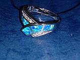 Кольцо с огненным опалом и цирконом в серебре 18,0., фото 8