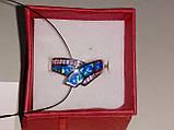Кольцо с огненным опалом и цирконом в серебре 18,0., фото 5