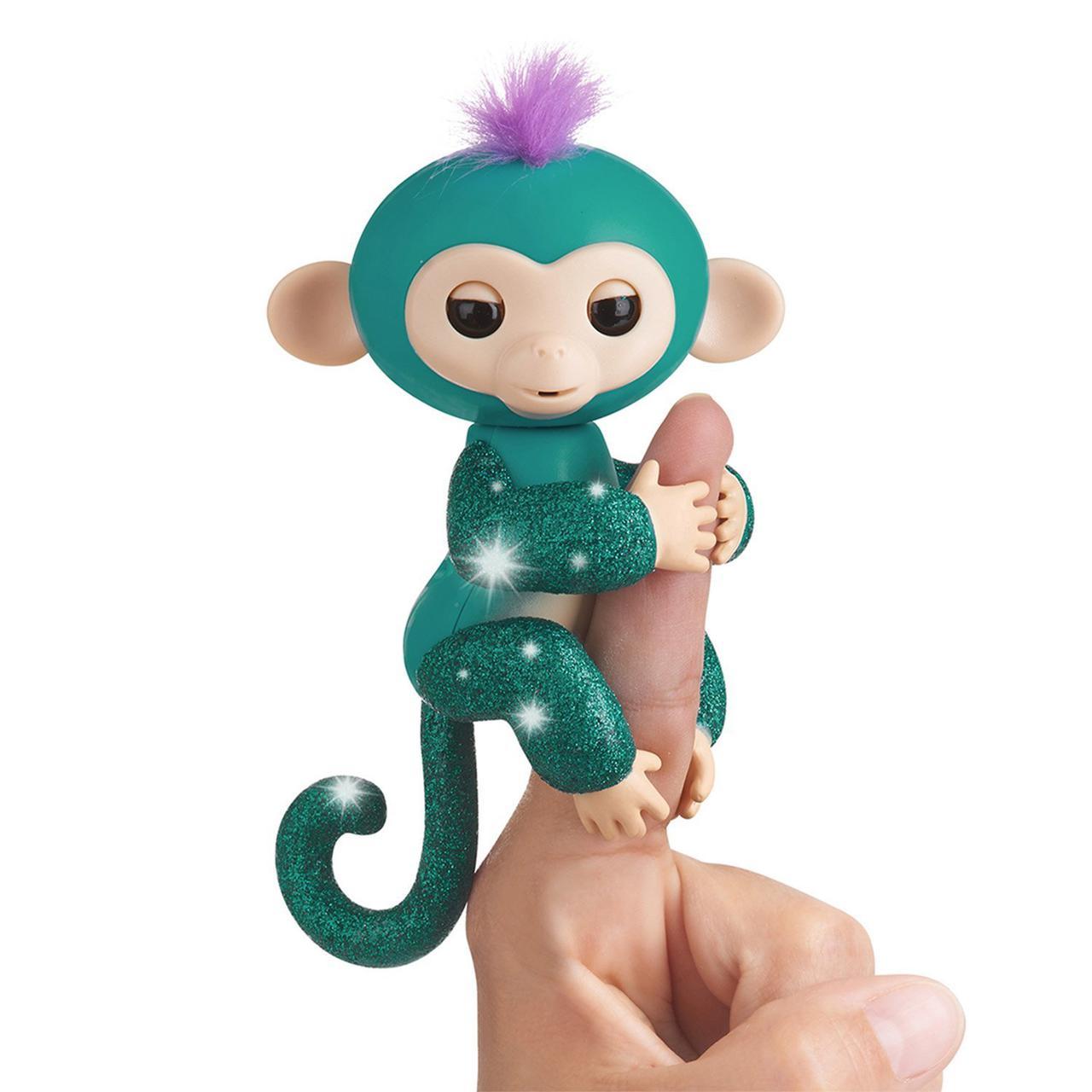 Оригинал интерактивная обезьянка Фингерлинг Блестящая - Куинси  WowWee Fingerlings Glitter Monkey - Quincy