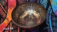 Тибетская поющая чаша с карвингом (Jn-c4-38)