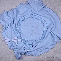 Летний конверт-плед Нежность (голубой)