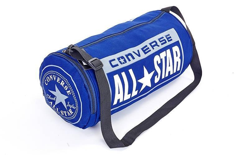 Сумка  бочонок с отделением для обуви converse синяя реплика