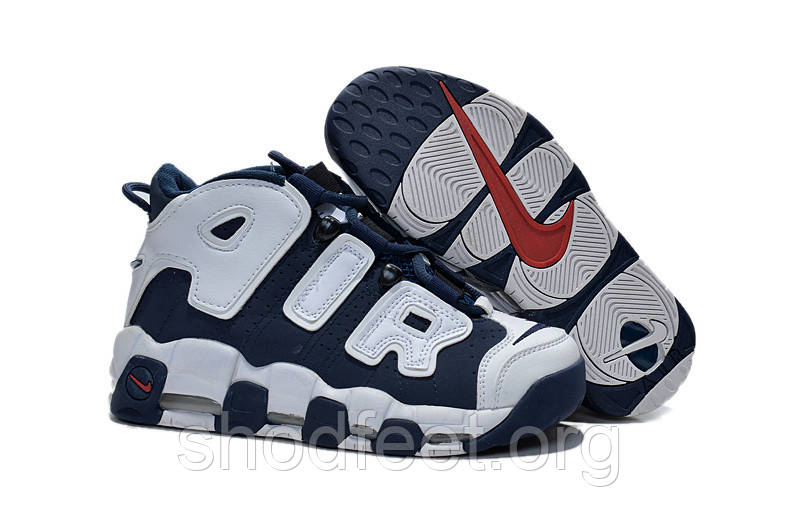 Детские кроссовки Nike Air More Uptempo Olympic Pippen Kids Blue White