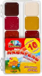 Лучшие акварельные краски для школы  Акварельные краски для детей 10 цветов пластик Гамма