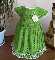 Ажурное вязаное платье для девочки до 1,5 года, фото 1