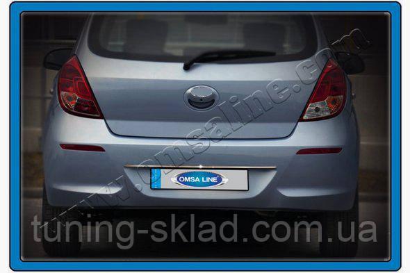 Хром накладка над номером Hyundai I-20 2012-2014 (Хюндай)